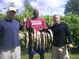 Dan Ryks catch of fish and friends