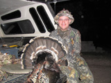 Jack McCullough with turkey